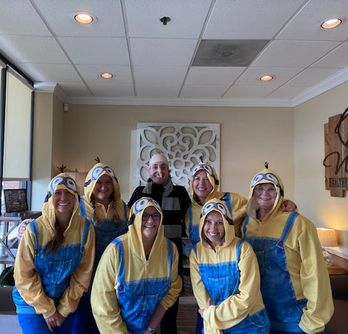 Dr. Worful celebrate halloween with staff
